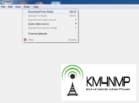 Using CHIRP – KM4NMP